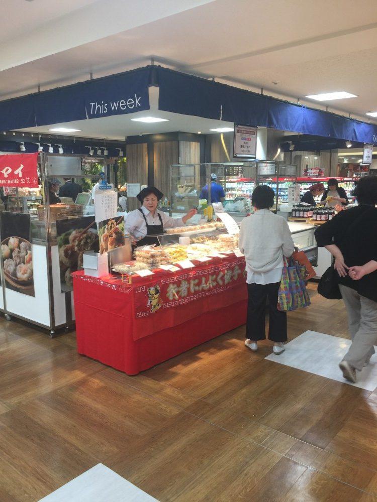 札幌東急百貨店にて、チャイ冷凍餃子・シュウマイの実演販売